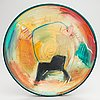 Timothy persons, plate, ceramic, signed persons 97.