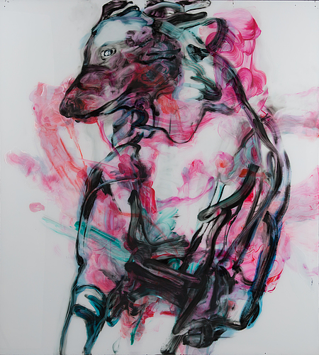 Elina ruohonen, acrylic on plexi glas, a tergo signed and dated 2006.