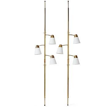 "3. Herbert Ode, a pair floor lamps ""Triolett"", Ho Armatur, Sjömarken, Sweden ca 1965."
