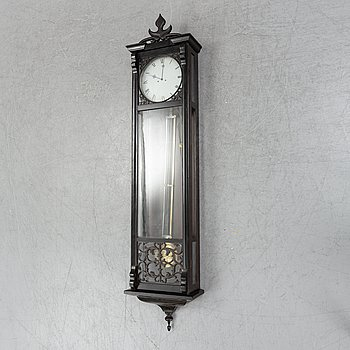 Wall clock, late 19th-century.
