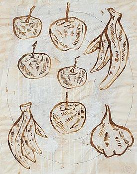 """357. Donald Baechler, """"Fruktstilleben""""."""