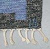 Ingegerd silow, a carpet, flat weave, ca 236 x 164-166 cm, signed is.