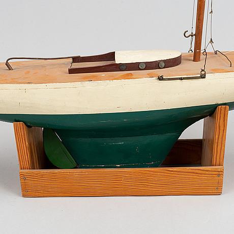A model ship, mid 20th century.