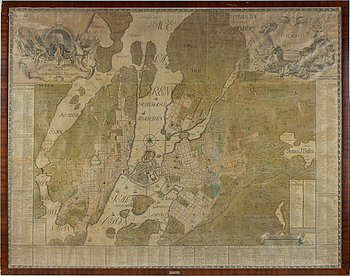 Large map/engraving by Petrus Tillaeus (1679-1754).