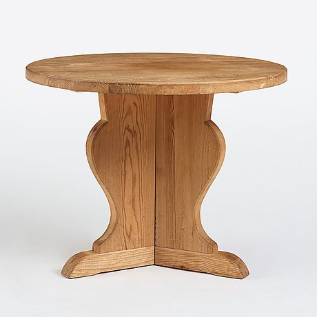 Axel einar hjorth, probably, a stained pine table, nordiska kompaniet, sweden.