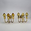 Hans-agne jakobsson, a pair of brass wall lamps.