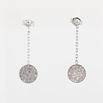 Eight-cut diamond earrings.
