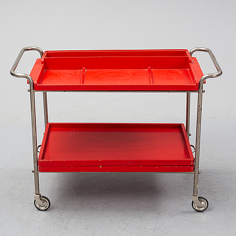A tubular steel drinks trolley, first half of the 20th century.