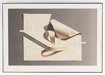 Yrjö Edelmann, lithograph in colours, 1981, signed 103/150.