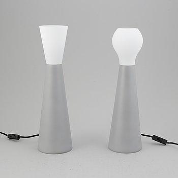 Klas Göran Tinbäck, bordslampor, ett par, glas.