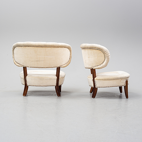 Otto schulz, a pair of 'schulz' easy chairs, jio möbler, jönköping, second half of the 20th century.