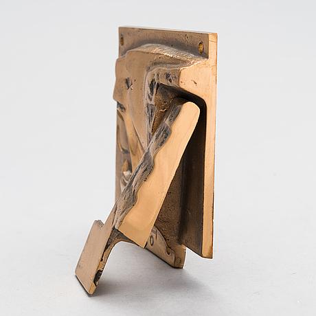 Armas hutri, door knocker, signed ah and dated 1970.