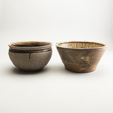 Two large jars, south east asian, 14th/17th century.