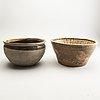 Krukor, två stycken, keramik. sydostasien, 1300/1600-tal.