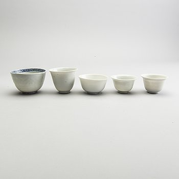 A group of five odd cups, Ming dynasty (1368-1644).