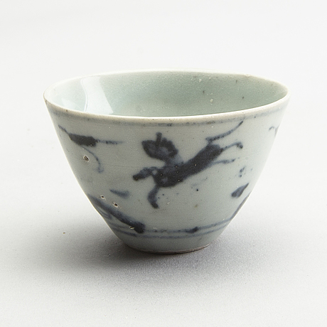 A group of blue and white south east asian miniatures, 17/19th century.