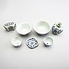A group of seven blue and white porcelain pieces, some ming dynasty (1368-1644).