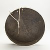 A brass gong with chinese characters to the interior, presumably late qing dynasty.