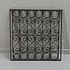 An iron window grid, 20th century.