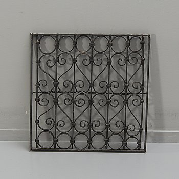 An iron window grid, 20th Century.
