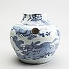 A blue and white jar, ming dynasty (1368-1644).
