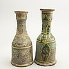 A group of 4 water pip bottles, persia, presumably circa 1900.