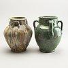Two persian jars, 17/18th century.