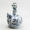 A blue and white kraak kendi, ming dynasty (1368-1644).
