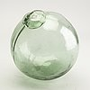 A group of five persian glass bottles and a ball, 19th/20th century.