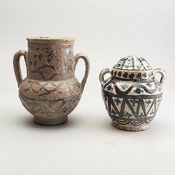 Two persian jars, Historismus, presumably 19th Century.