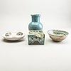Parti, fyra delar, keramik. persien, 1600/1800-tal.