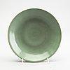 A celadon glazed dish, ming dynasty (1368-1644).