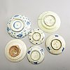 A group of persian cream ware, 18th/20th century.  (9 pieces).