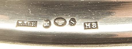 Erik kalb kandelabrar ett par silver halmstad 1934.