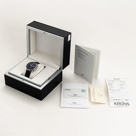 Iwc, portuguese, kronograf, armbandsur, 41 mm,