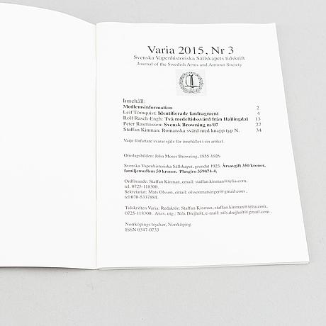 Svenska vapenhistoriska sällskapets skrifter 1926-2020.