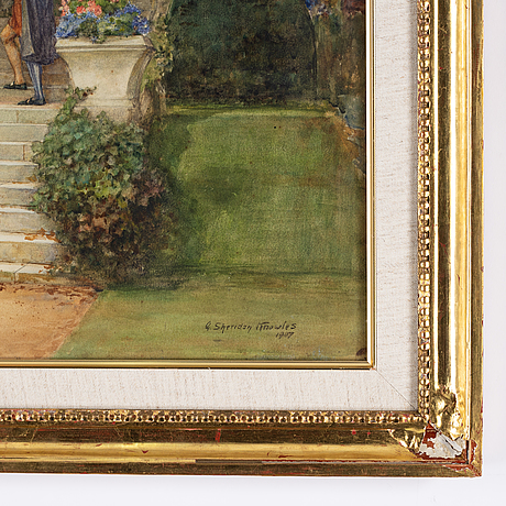 George sheridan knowles, watercolor, signed and dated 1907.