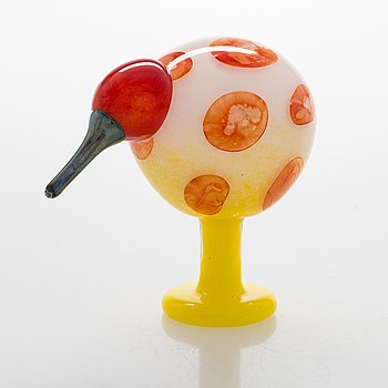 Oiva Toikka, A glass bird, signed O. Toikka Iittala Billnäs 2015, numbered 227/260.