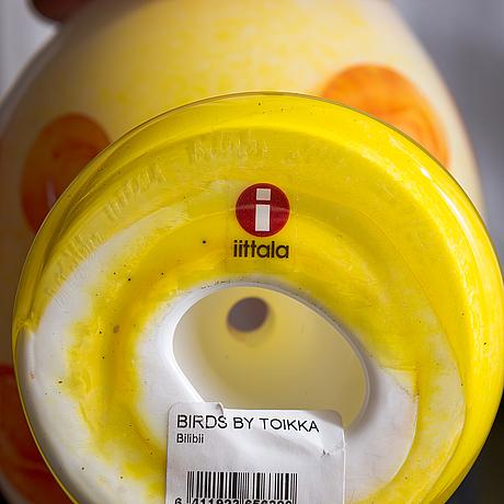 Oiva toikka, a glass bird, signed o. toikka iittala billnäs 2015, numbered 227/260.