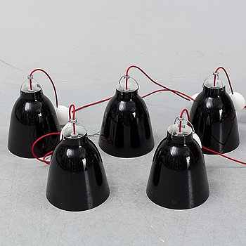 Five 'Caravaggio' pendant lights bu Cecilie Manz, designed 2005.