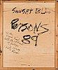 Timothy persons, öljy levylle, a tergo signeerattu ja päivätty -89.