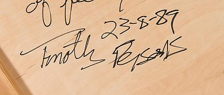 Timothy persons, olja på pannå, a tergo signerad och daterad -89.