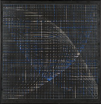 Raul Meel, silkscreen, signed and dated -74, numbered IV/7.