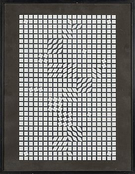 Victor Vasarely, silkscreen, signed and numbered 97/200.