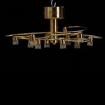 A Herbert Schmidt Leuchtenfabrik ceiling light, second half of the 20s century.