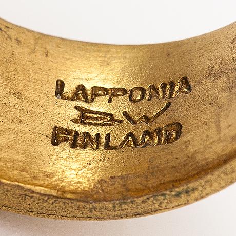 "Björn weckström, a bronze ring ""b-52"". lapponia."