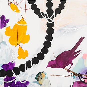 Milla Kuisma, oil and acrylic on canvas, a tergo signeerattu ja päivätty 2012.