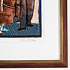 Theo tobiasse, lithograph in colours, signed 149/150.