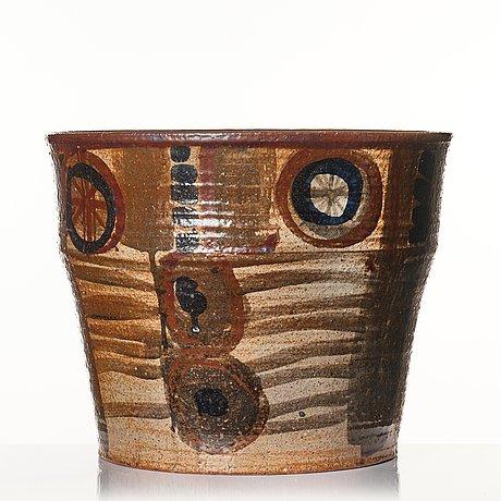 Lisa larson, a stoneware floor vase, gustavsberg studio, probably 1960's.