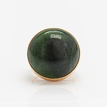 Pirkan kulta, A 14K gold ring with a chrome diopside. Pirkan kulta, Tampere 1966.